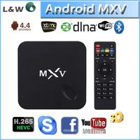 best android 4.4 tv box! mxv quad core H.265 4K2K Amlogic S805 Smart TV Box Better than m8 mxiii mx mxq