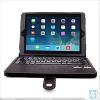 for Apple iPad Air Protective Case with keyboard- Tri-Fold Leather Folio Cover for Apple iPad Air P-IPD5CASE011