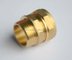 "For copper pipe hexagon nut CW617N materia Kiwa Approved 15mm x 1/2"" BSP Male thread compression brass fitting manufacture"