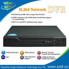 Cctv cámara de la marca h. 264 de red independiente dvr tarjeta sd dvr de 4 canales bnc de shenzhen