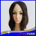 Venta al por mayor del pelo trenzado llena del cordón virginal brasileño peluca de cabello humano