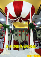 Mushroom Round wedding pavilion backdrop wall drapes for party chiffon drape for wedding decoration