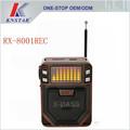 Reproductor de música MP3 alta calidad fm portable radio RX-8001REC