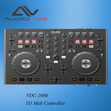 Manufacturer Supply VDC-2000M portable 2 Channel hot sale mini DJ Controller
