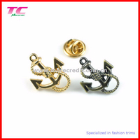 Existing mould anchor metal pin badge in different metal color