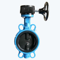 Worm Gear Operated PN10 DN 200 wafer butterfly valve