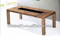 tempered glass wooden living room furniture Coffee Table