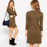 Juhai 3496 dresses for middle aged women shirt sweater dress