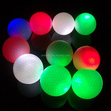 Purchase large golf ball cheap wholesale colorful flashing led golf ball