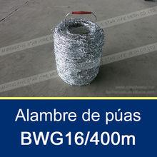BWG16 Alambre de púas 100M/250M/400M