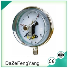Electric contact stainless steel pressure gauge Bottom mounting 150mm