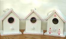 Accept custom white paint color wooden bird house,small bird home