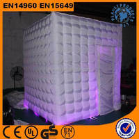 Wholesale white inflatable photo booth with LED lighting