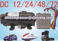 Truck air conditioner kits r134a brushless dc compressor 12v/24v/48v/72v for electric air conditioning system