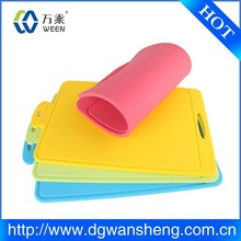 flexible vegetable silicone cutting board/kitchen silicone cutting board