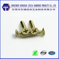 Factory brass plated M4x30 brass decorative furniture connecting screw