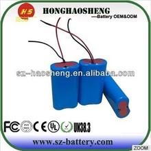 Light weight 1S2P 3.7V 5200mah battery pack 18650 lithium battery for e-car e-yacht