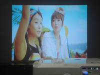 high clear 2800 lumens mini led projector with 1920*1080 3d projector