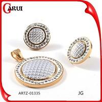 Best Sale bridal jewelry Set Micro Pave CZ Jewelry Sets
