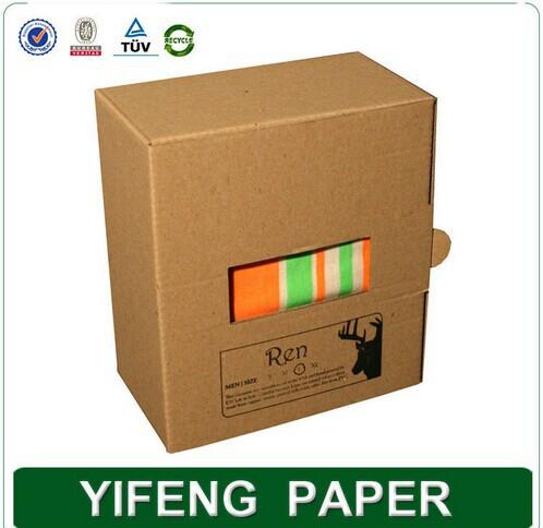 Customized wholesale hot stamping logo brown kraft corrugated box