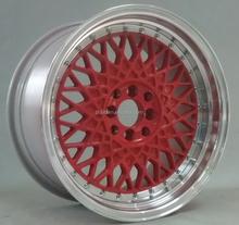 Alloy HRE replica aluminum blank red golden wheel 4X100 5X112
