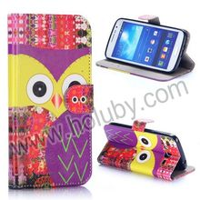 Wallet Style Magnetic Flip Stand TPU + PU Leather Owl Case for Samsung Galaxy Grand 2 Duos G710