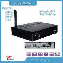 amlogic android 4.0 tv box dvb s2