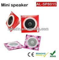 Mgitec 2015 China manufacturer paper box speaker,wholesale mini speaker folding paper, foldable paper speaker