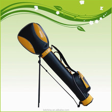 2015 fashion antique leather golf bags stand with new design
