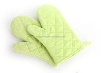 cheap cotton heat resistant pattern oven mitt heat resistance bbq gloves made in china