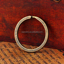 RS-1848 Wholesale 27*27mm Popular Nice Quality Metal Iron Antique Brass Split Key Ring