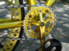HOT SALE!!! Luxury Golden Color 3 Spokes Fixed Gear Bike with Mag Rim