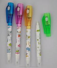 Fabulous design 3 in 1 magic invisible ink uv led pen + ball pen + black light CH-0826