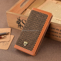 Leather Book Style Phone Case, Wallet Style Case ,For Samsung Galaxy S6 cellular cellphone cases Leather