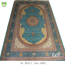 25111-1 green / cream custom design decorative home decor beige blue 6x9ft persian rugs and carpets
