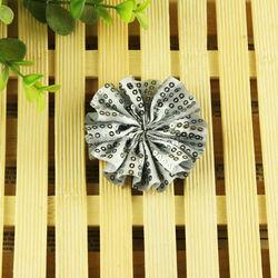 fashion cheap christmas raschel lace fabric chiffon flower applique