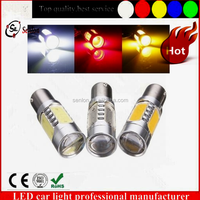 Top sale BA15D led amber car light best quality red yellow white 1157 11w led brake light for cars parts