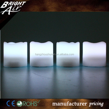 China factory 4 Flameless LED wax candle light with daily timer