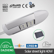 Professional manufacturer 3500-6500k 90lm\w good solar panel 40w led solar street light