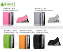 2012 wholesale price High Quality PU smart cover back case for Apple New iPad 3 iPad 2,with back case in retail package