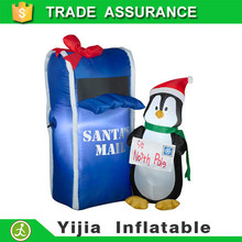 150cm INFLATABLE PENGUIN MAILING LETTER TO SANTA led christmas decoration