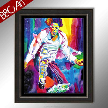 incredible colored stunning Michael Jackson dancing bars wall pop art