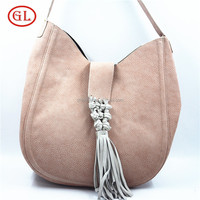 Light brown round hand bag woman fashion bag Real leather branded bags genuine