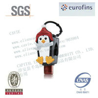 30ml Mini Hand Gel Sanitizer With Cute X-mas Penguin Shape Silicon Holder