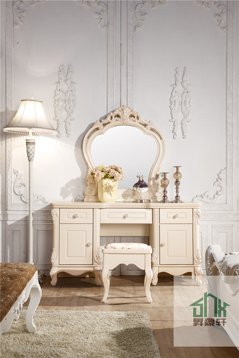 French Style Ha 913 Bedroom Furniture Wall Mounted Dressing Table White Dres