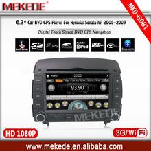 Multilingual menu car multimedia player for hyundai sonata 2006 2007 2008 support DVD GPS RADIO IPOD BT ATV 3G WIFI