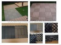 Composite anti-slip outdoor tiles