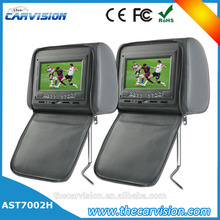 "Thecarvision 7"" Wide screen leather headrest dual car dvd for Car Entertainment Systems"