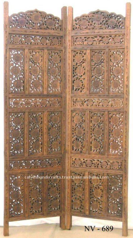 Home decor set wood carving partition antique wooden
