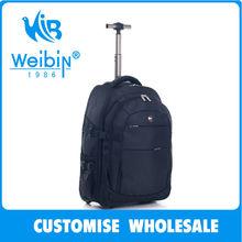 2014 nuevo superior de poliéster impermeable mochila de la carretilla ruedas en escuela de bolsa con ruedas